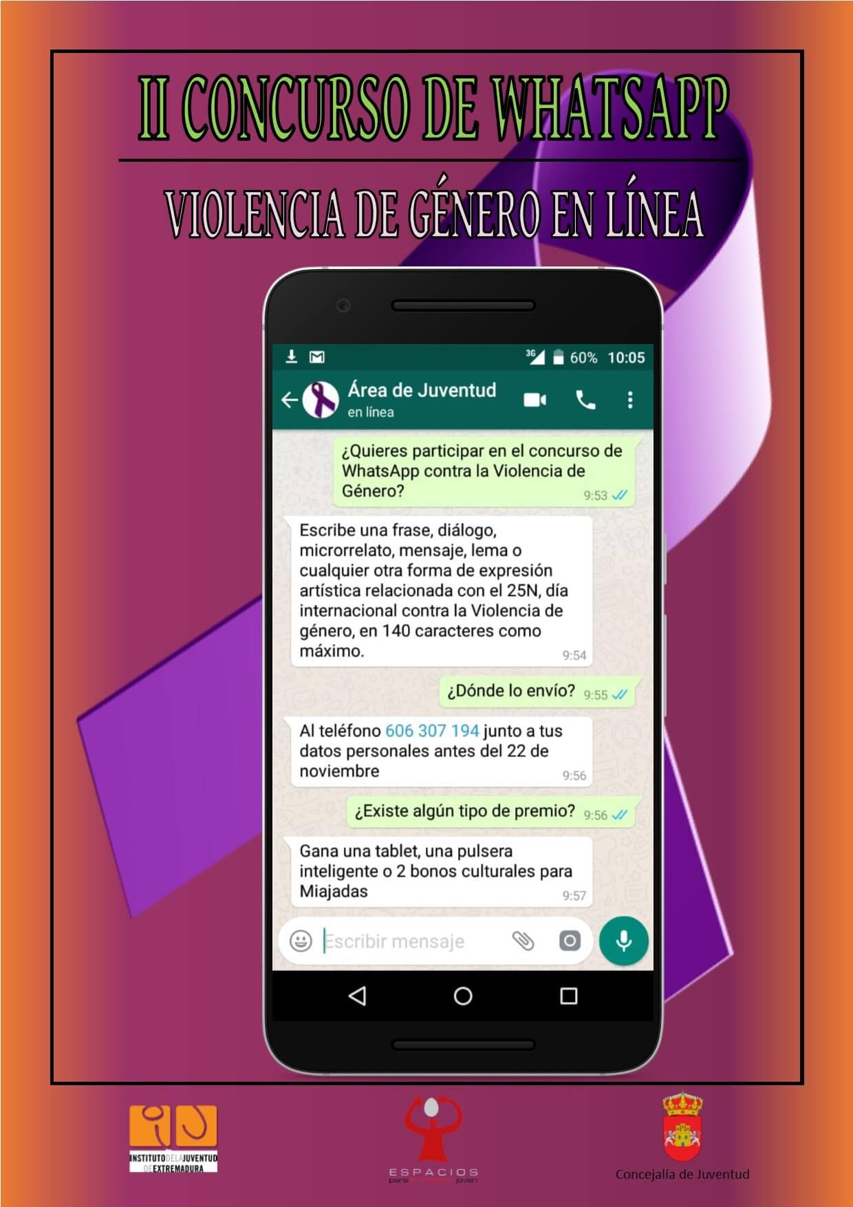 Ii Concurso De Whatsapp Violencia De Género En Línea Ayuntamiento De Miajadas